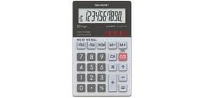 Taschenrechner 10-stellig glastop SHARP SH-ELW211G-GY dualpower Produktbild