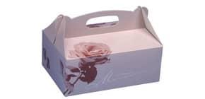 Mehlspeiskarton  rosa PAPSTAR 18850 16x10x9cm Produktbild