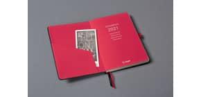 Buchkalender 2021 ca. A6 schwarz-rot CONCEPTUM C2109 Produktbild