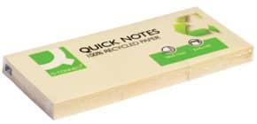 Haftnotizblock Recycling gelb 3 Stück Q-CONNECT KF22367 38x51mm Produktbild