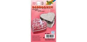 Geschenkbox Mini Herz 10ST natur Produktbild