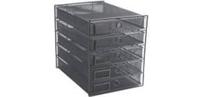 Schubladenbox Draht 5 Laden schwarz Q-CONNECT KF00835 Produktbild