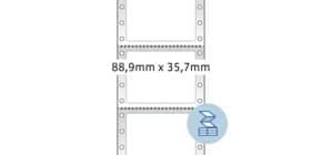 Endlosetikett 88,9x35,7 mm weiß HERMA 8211 1-bahnig Nadeldrucker Produktbild
