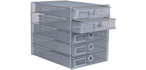 Schubladenbox Draht 5 Laden silber Q-CONNECT KF00834 Produktbild