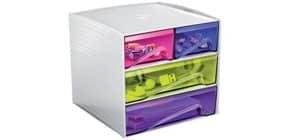 Schubladenbox 4 Laden transp. CEP 1032110811 Cube3211HM Produktbild