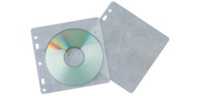 CD Hülle 40ST transparent gelocht Q-CONNECT KF02208 Produktbild