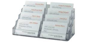 Visitenkarten-Aufsteller glasklar SIGEL VA138 f. 560 Karten max. 97x85mm Produktbild