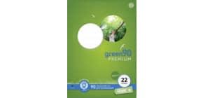 Heft LIN22 A4 16 Blatt 5mm kariert STAUFEN GREEN 040782022 90g Produktbild