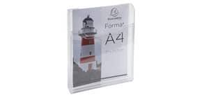 Prospekthalter A4hoch glasklar EXACOMPTA 65158D 1 Fach Produktbild