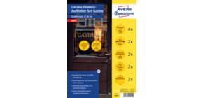 Hinweisetiketten Corona Schilderset gelb AVERY ZWECKFORM 49401 Gastro 12ST Produktbild