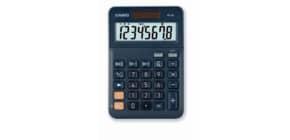Tischrechner 8-stellig silberblau CASIO MS-8E Solar/Batterie Produktbild