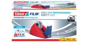 Tischabroller 19mmx33m rot/blau TESA 57421-0 Easy Cut leer Produktbild