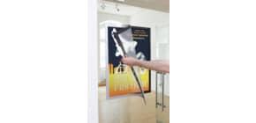 Prospekttasche 50x70xm silber DURABLE 4996 23 Duraframe Produktbild
