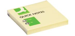 Haftnotizblock 76x76mm gelb Q-CONNECT KF10502 100Bl Produktbild