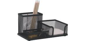 Schreibköcher Draht 3 Fächer schwarz Q-CONNECT KF16572 Produktbild