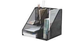 Butler Draht 8 Fächer schwarz Q-CONNECT KF18473 Produktbild