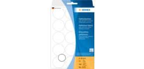 Haftetiketten D32mm weiß Produktbild