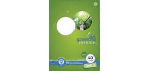 Heft LIN40 A4 16 Blatt 5mm kariert STAUFEN GREEN 040782040 Umrandung 90g Produktbild