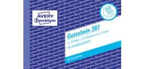 Gutscheinheft A6h 2x50bl ZWECKFORM 361 Produktbild