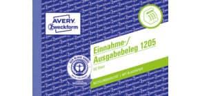 Einnahme/Ausgabebeleg A6 quer 50 Blatt ZWECKFORM 1205 recycling Produktbild