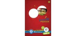 Heft LIN27 A4 32 Blatt 9mm liniert URSUS 040784027 mit Rand Green 90g Produktbild