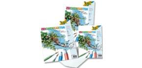Zeichenkarton A2 10Bg weiß FOLIA 8500 120g Zeichenpapier Produktbild