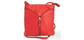 Umhängetasche Damen Leder rot Produktbild