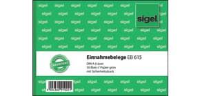 Kassen Einnahmebeleg A6 quer grün SIGEL EB615 50 Blatt Produktbild