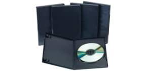 DVD Hülle 1 Film 5ST schwarz Q-CONNECT KF02211 Produktbild
