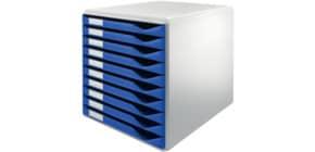 Schubladenbox 10 Laden blau LEITZ 5281-00-35 Produktbild