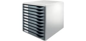 Schubladenbox 10 Laden dgrau LEITZ 5281-00-89 Produktbild