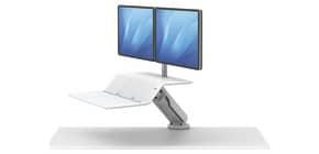 Bildschirmträger für 2 Monitore weiß FELLOWES FW8081801 Produktbild