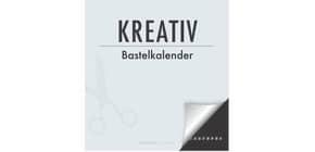 Bastelkalender blanco schwarz ALPHA 88.0677 21x22cm immerwährend Produktbild