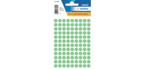 Etiketten Ø8mm grün HERMA 1845 540 Stück permanent haftend Produktbild
