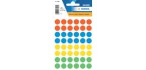 Etiketten Ø12mm farbig sortiert HERMA 1851 240 Stück permanent haftend Produktbild