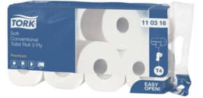 Toilettenpapier Soft 3lagig TORK 110316 8x250BL Produktbild