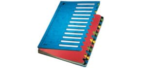 Ordnungsmappe 24teilig blau LEITZ 59140035 Karton Produktbild