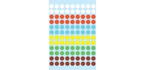 Etiketten Ø8mm 6 Farben sortiert HERMA 1831 540 Stück Produktbild
