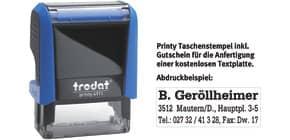 Printy Gehäusefarbe blau TRODAT 4911 GUTSCHEIN   1-4 Zeilen Produktbild