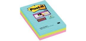 Haftnotizblock 3ST lin. Miami POST-IT 4690-SS3-MIA 152x101mm Produktbild