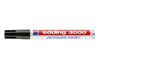 Permanentmarker schwarz EDDING 3000-001 1,5-3mm Produktbild