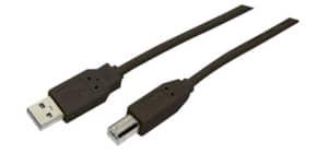 Druckerkabel A/B 1,8m sw MEDIARANGE MRCS101 USB 2.0 Produktbild