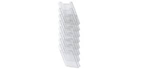 Prospekthalter A4hoch glasklar EXACOMPTA 64858D 8 Fächer Produktbild