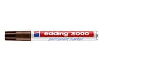 Permanentmarker dkl. braun EDDING 3000-018   M Produktbild