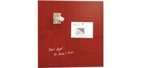 Magnettafel 100x100cm rot SIGEL GL202 artverumXL Produktbild