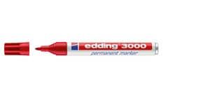Permanentmarker 3000 1,5-3mm rot EDDING 3000-002 Rundspitze nachfüllbar Produktbild