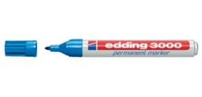 Permanentmarker 3000 1,5-3mm hellblau EDDING 3000-010 Rundspitze nachfüllbar Produktbild