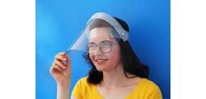 Gesichtsschutzschild aufklappbar transp. 18500 Höhe 24cm 093176 Produktbild