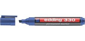 Permanentmarker 330 1-5mm blau EDDING 330-003 Keilspitze nachfüllbar Produktbild