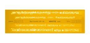 Schriftschablone Duo 3.5+5 mm ARISTO AR5305 gerade Produktbild